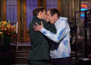 John Krasinski Kisses Pete Davidson on 'SNL'