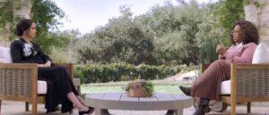 Meghan Markle interviewed by Oprah Winfrey (Image: Harpo)
