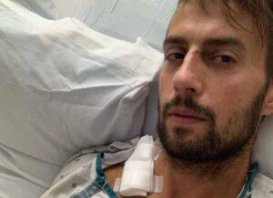 Ryan Fischer is recovering in the hospital (Image: Instagram)