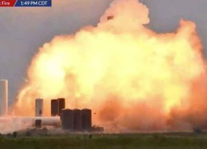 SpaceX Starship Prototype Explodes (Image: NASA)