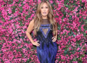 """LOS ANGELES, CA - OCTOBER 22: Carrie Ann Inaba poses at """"Dancing with the Stars"""" Season 27 at CBS Televison City on October 22, 2018 in Los Angeles, California. (Photo by David Livingston/Getty Images)"""