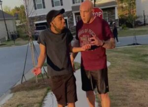 Fort Jackson Sgt. Jonathan Pentland confronts black man in viral video (Image: Facebook)