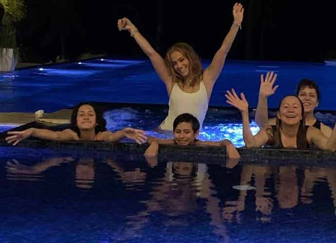 Jennifer Lopez Goes Night Swimming With Her Twins In The Dominican Republic