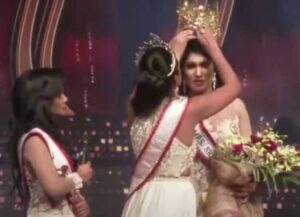 Mrs. World Caroline Jurie Arrested After Snatching Crown From Mrs. Sri Lanka's Head (Image: YouTube)