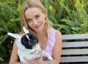 Reese Witherspoon Channels Elle Woods For Her Dog's First Easter (Image: Instagram)