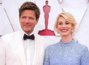 LOS ANGELES, CALIFORNIA – APRIL 25: (EDITORIAL USE ONLY) In this handout photo provided by A.M.P.A.S., (L-R) Thomas Vinterberg and Helene Reingaard Neumann attend the 93rd Annual Academy Awards at Union Station on April 25, 2021 in Los Angeles, California. (Photo by Matt Petit/A.M.P.A.S. via Getty Images)