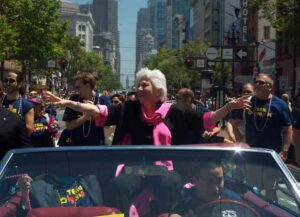 Olympia Dukakis at San Francisco Gay Pride Parade (Image: Wikimedia)