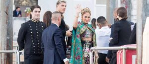 VENICE, ITALY - AUGUST 29: Jennifer Lopez is seen during the Dolce&Gabbana Alta Moda show on August 29, 2021 in Venice, Italy. (Photo by Jacopo Raule/Getty Images)