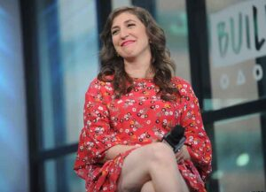 """NEW YORK, NY - MAY 09: Actress Mayim Bialik discusses her new book """"Girling Up: How to Be Strong, Smart and Spectacular"""" at Build Studio on May 9, 2017 in New York City. (Photo by Brad Barket/Getty Images)"""