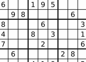 Sudoku game (Image: Wikimedia)