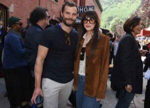 TELLURIDE, COLORADO - SEPTEMBER 04: Jamie Dornan and Dakota Johnson attend the Telluride Film Festival on September 04, 2021 in Telluride, Colorado. (Photo by Vivien Killilea/Getty Images)