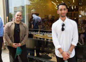 Nicolas Jammet and Jonathan Neman at their Dupont Circle Sweetgreen restaurant in 2014 (Image: US Dept. of Labor)