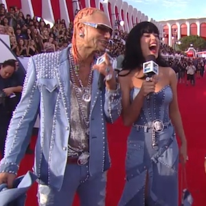 Katy Perry And Riff Raff Dressed Up As 2001 Britney Spears And Justin Timberlake At Mtv Vmas Uinterview