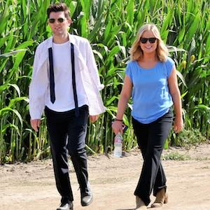 Amy Poehler And Adam Scott Film Scenes For 'Parks & Recreation's Last Season