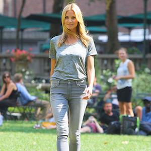 Heidi Klum Films PSA In New York City