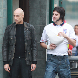 Sacha Baron Cohen Films 'Grimsby' In England With Mark Strong