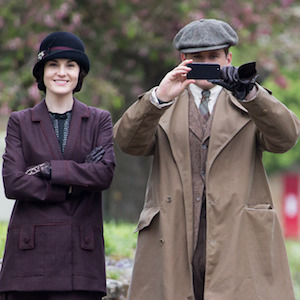 Allen Leech Takes A Picture Filming 'Downton Abbey' With Michelle Dockery