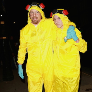 Guy Ritchie And Son Rocco Ritchie Don 'Breaking Bad' Costumes For Halloween