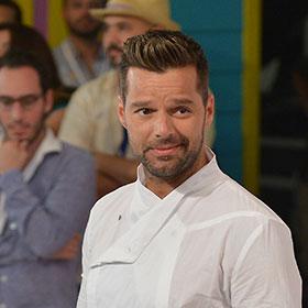 Ricky Martin Wears White To Premios Juventud 2013 In Miami