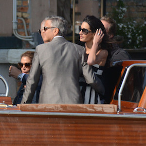 George Clooney And Amal Alamuddin Arrive In Venice For Wedding
