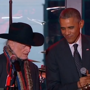 """President Obama Sings """"On The Road Again"""" With Willie Nelson"""