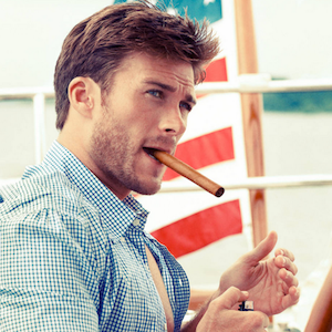 Scott Eastwood Flexes Shirtless On Set Of Film 'Fury' Co-starring Brad Pitt