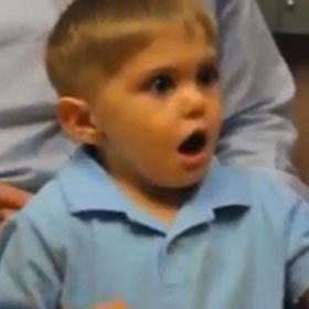 Grayson Clamp, 3-Year-Old Deaf Boy, Hears Father For First Time