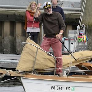 Richard Gere Mans A Boat On 'Franny' Set