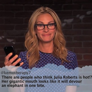 Julia Roberts, Mindy Kaling And Kit Harington Appear In Jimmy Kimmel's 'Celebrities Read Mean Tweets'
