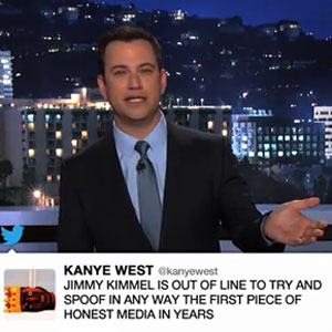 Kanye West In A Rap Feud With Jimmy Kimmel: Rants On Twitter After Sketch On 'Jimmy Kimmel Live'