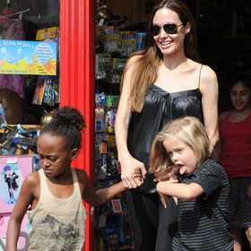 Angelina Jolie Goes Toy Shopping With Kids