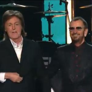 Paul McCartney & Ringo Starr Reunite On Grammy Stage