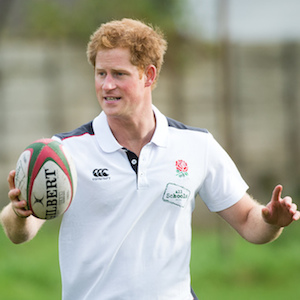 Prince Harry Plays Rugby At Eccles RFC