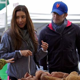 Matthew Morrison Dresses Down With Girlfriend Renee Puente At Farmers Market