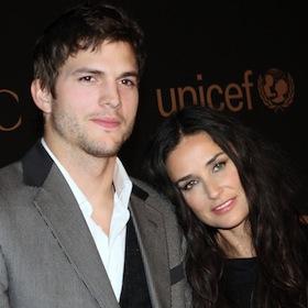 Ashton Kutcher And Demi Moore Reunite At California Airport [VIDEO]