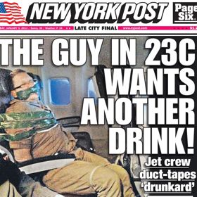 Drunk Man Duct Taped To Airplane Seat After Disorderly Conduct