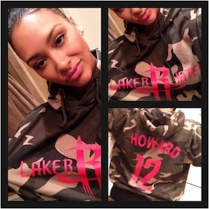 Dwight Howard's Girlfriend Christine Vest Wears 'Laker Hater' Hoodie To Rockets Vs. Lakers Game; Offers Sarcastic Apology
